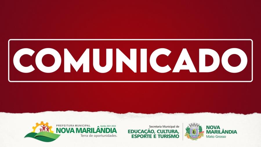 COMUNICADO AOS PAIS E RESPONSÁVEIS DOS ALUNOS DA REDE MUNICIPAL DE ENSINO
