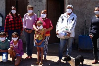 Secretaria Municipal de Assistência Social realiza doação de cestas básicas e assentamento Bela Vista.
